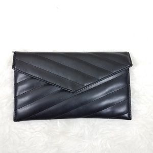 asos womens clutch purse black snap
